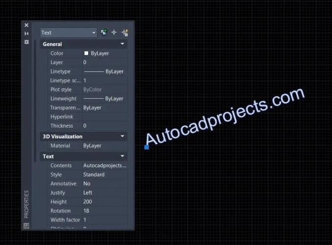 Single line text-AutoCAD