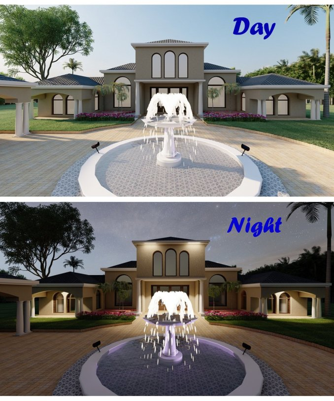Day and Night rendering in Lumion Pro