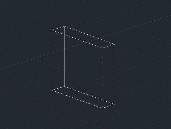 2D wireframe - AutoCAD 3D