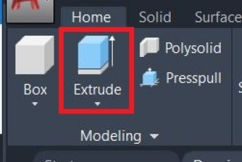 Extrude autocad command