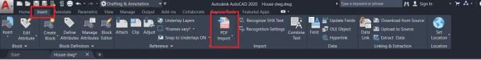 AutoCAD PDF import