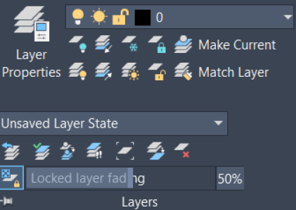 autocad layer panel