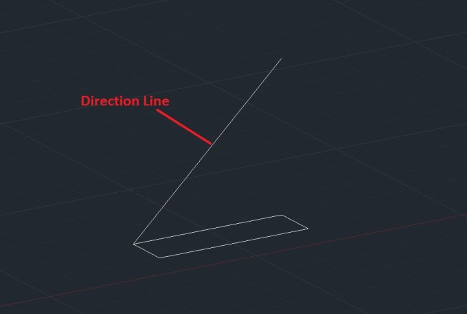 Direction Extrude -AutoCAD 3D