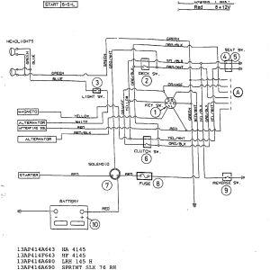 Riding Lawn Mower Starter solenoid Wiring Diagram