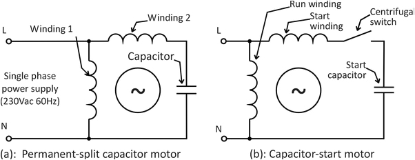 Single Phase Capacitor Start-capacitor-run Motor Wiring