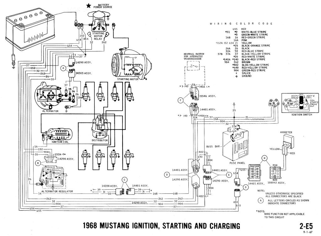 1965 ford Mustang Ignition Switch Wiring Diagram