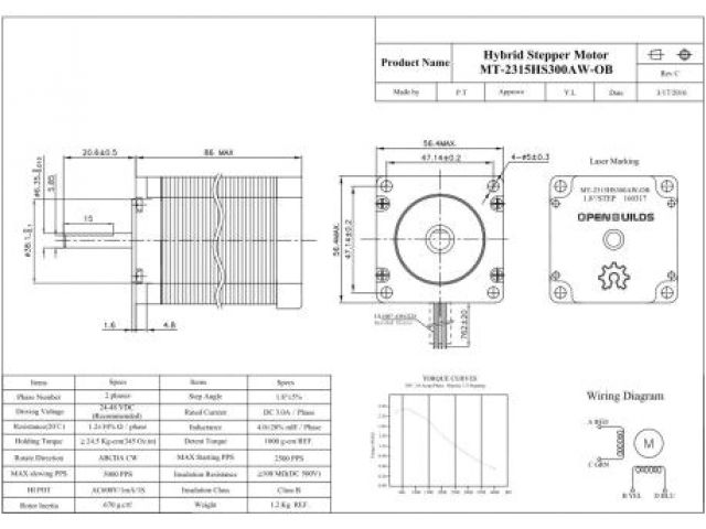 Nema 23 Stepper Motor Wiring Diagram Nema 23 Stepper Motor