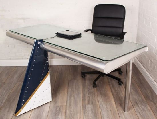 Max McMurdo Airplane Wing Desk