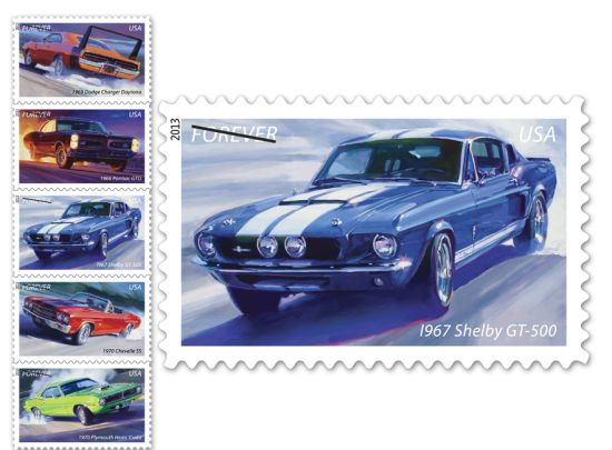 Muscle Cars Forever' stamp series