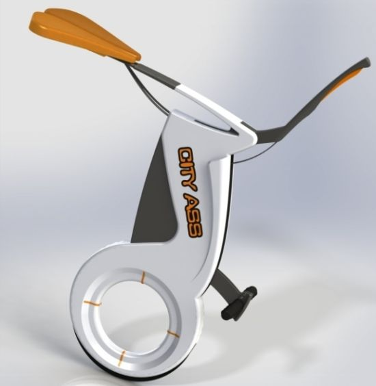 Foldable City Ass electric unicycle