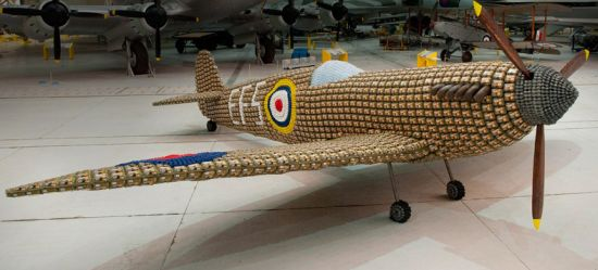 full size Spitfire airplane from 6,500 egg cartons 10