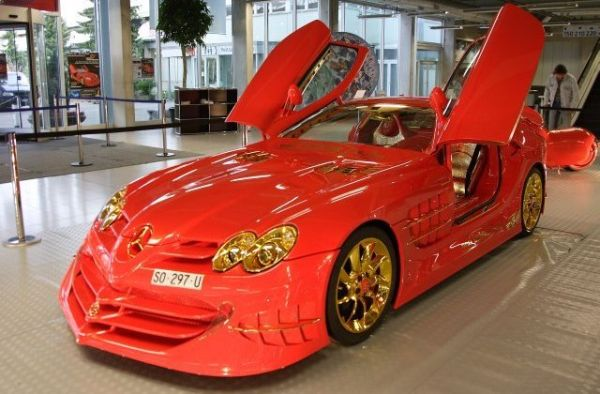 Mercedes McLaren SLR 999 Red Gold