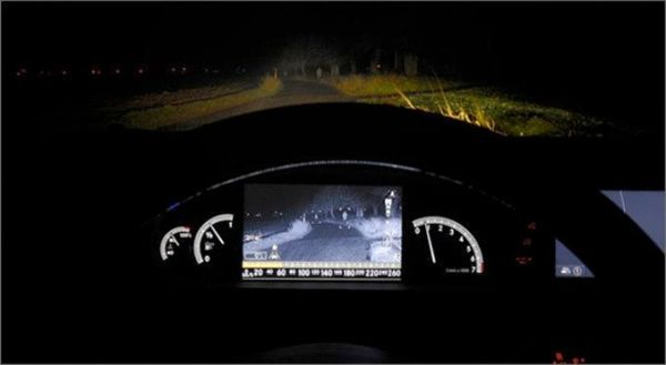 Adaptive headlights with night vision assistance