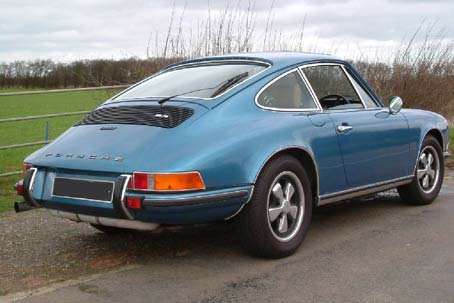 The Blue Pearl Prior to restoration - 1972 Porsche 911T