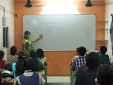 Social Science Teacher Teaching in the class