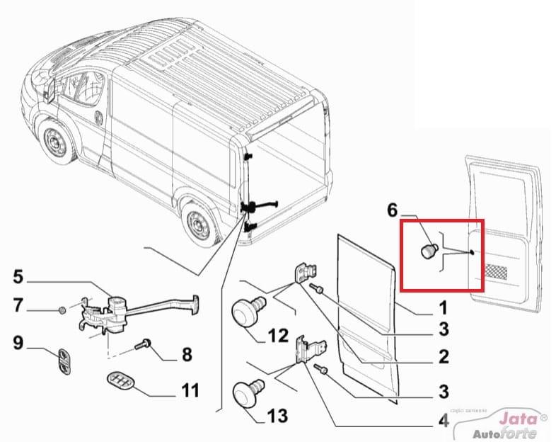 Przycisk ogranicznika drzwi Fiat Ducato 2006