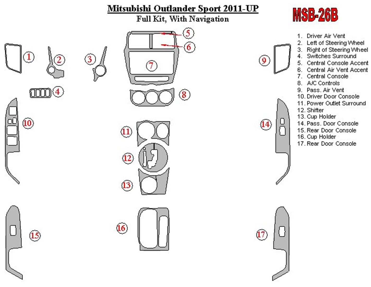 Toyota Prado 01.01-12.02 3M 3D Interior Dashboard Trim Kit