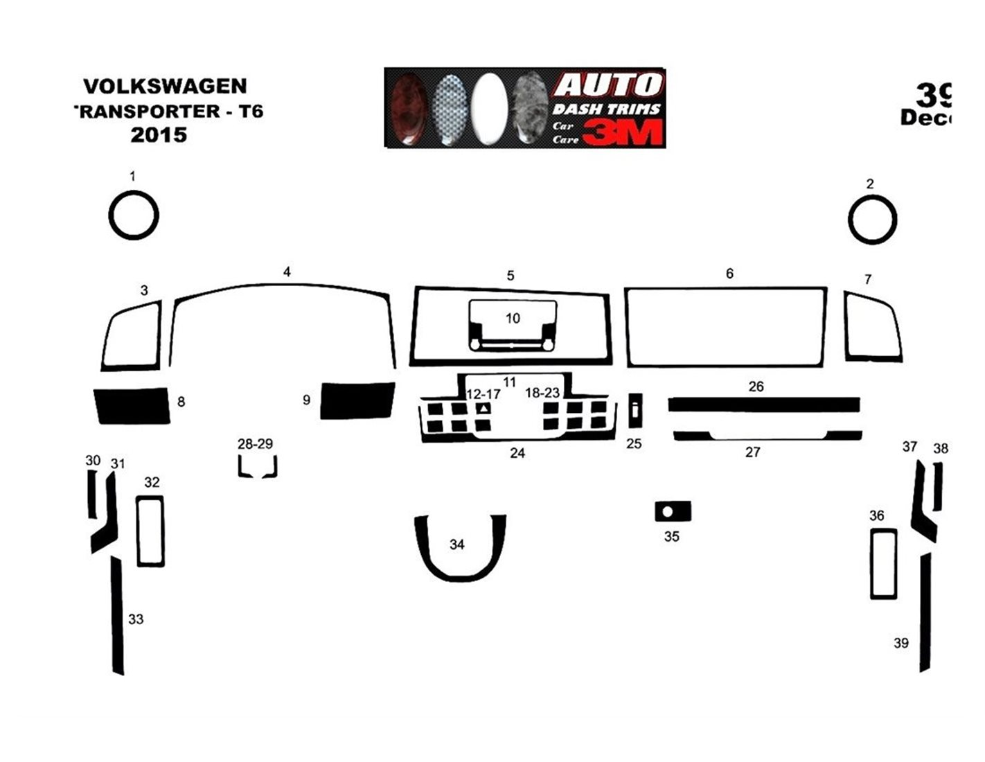 Volkswagen Transporter T6 09.2015 3M 3D Interior Dashboard