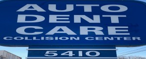 Auto dent care Front Sign