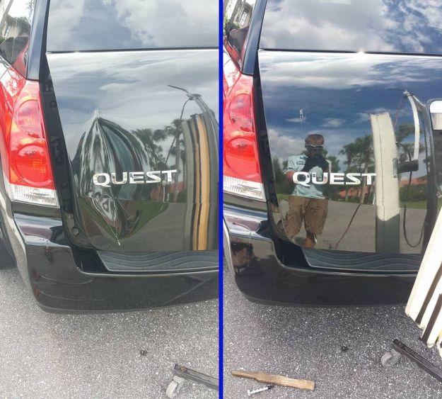 Nissan Quest Dent