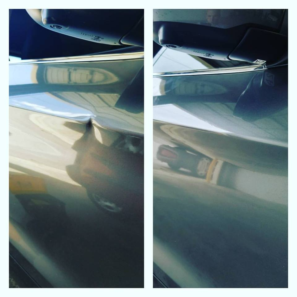 ... it will be repairable. This was a very sharp dent on a body line and any deeper of a dent would most likely have been beyond our method of Paintless ... & door ding | Auto Dent Solution