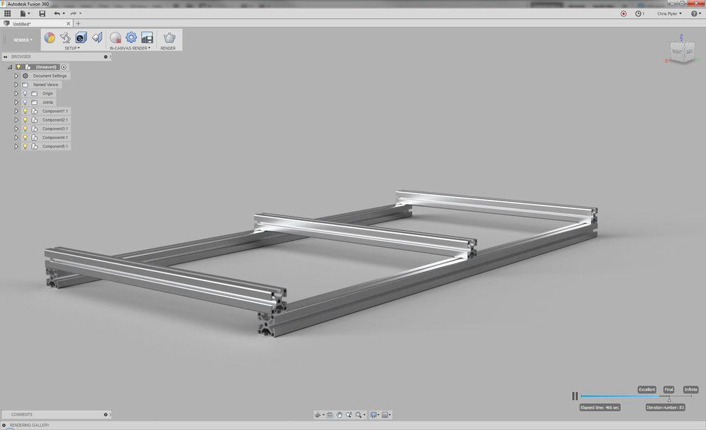 parametric design with aluminum