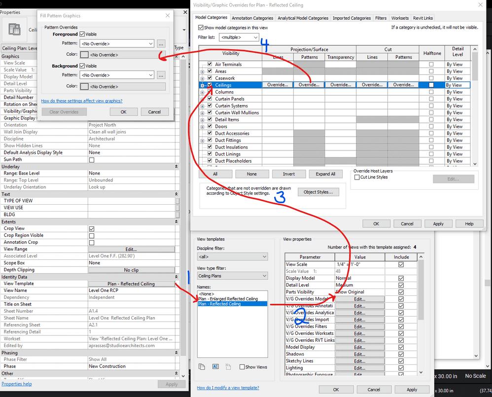 ceiling vs floor view template settings png [ 998 x 805 Pixel ]