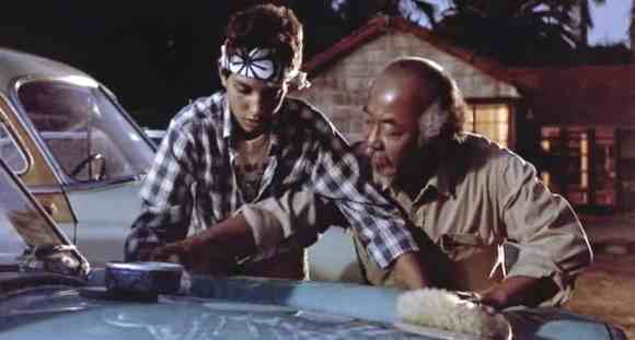 The Karate Kid, still movie scene - Article - Paint Overspray Removal - AutoDetailGuide.com