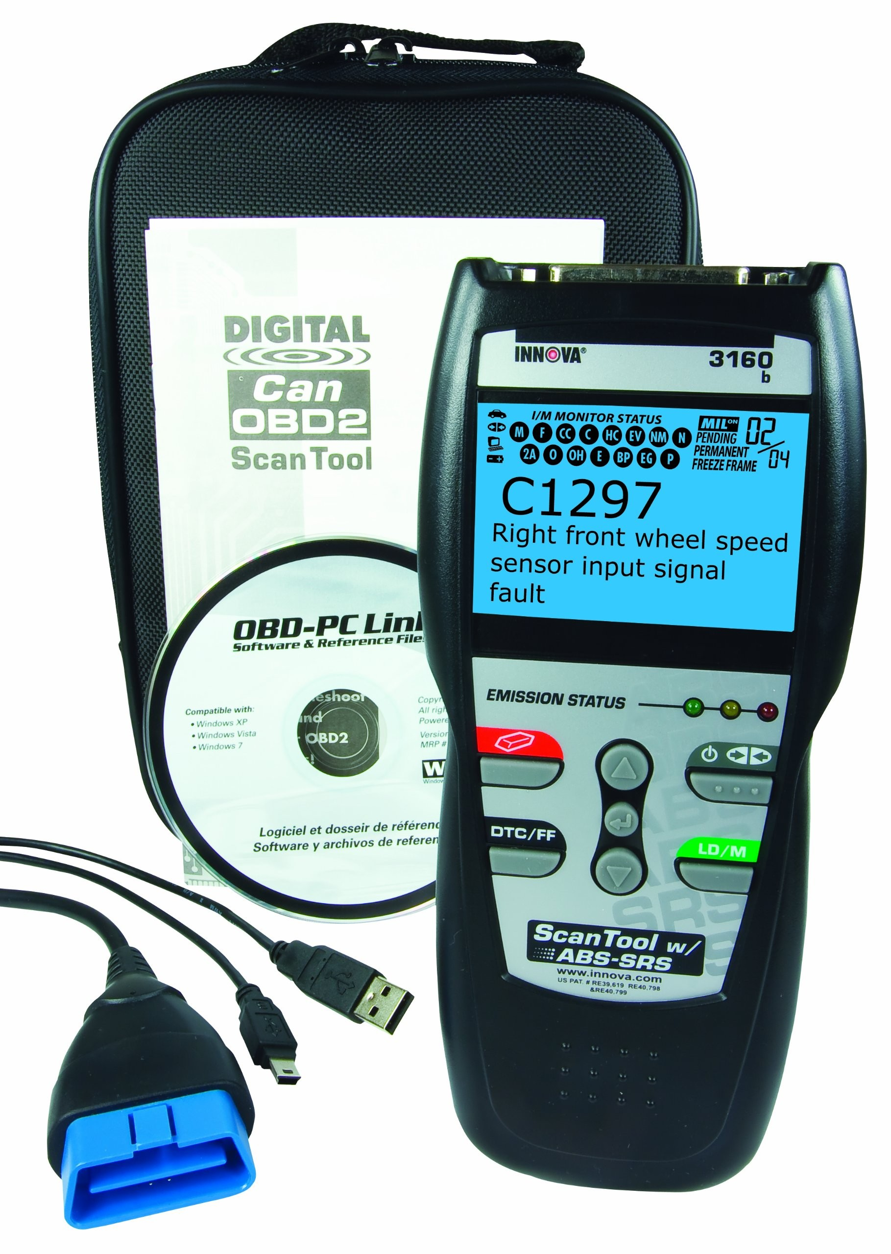 ignition switch and obd live data 12 volt winch 2 solenoid wiring diagram equus 3160 b innova abs srs professional obd2 diagnostic