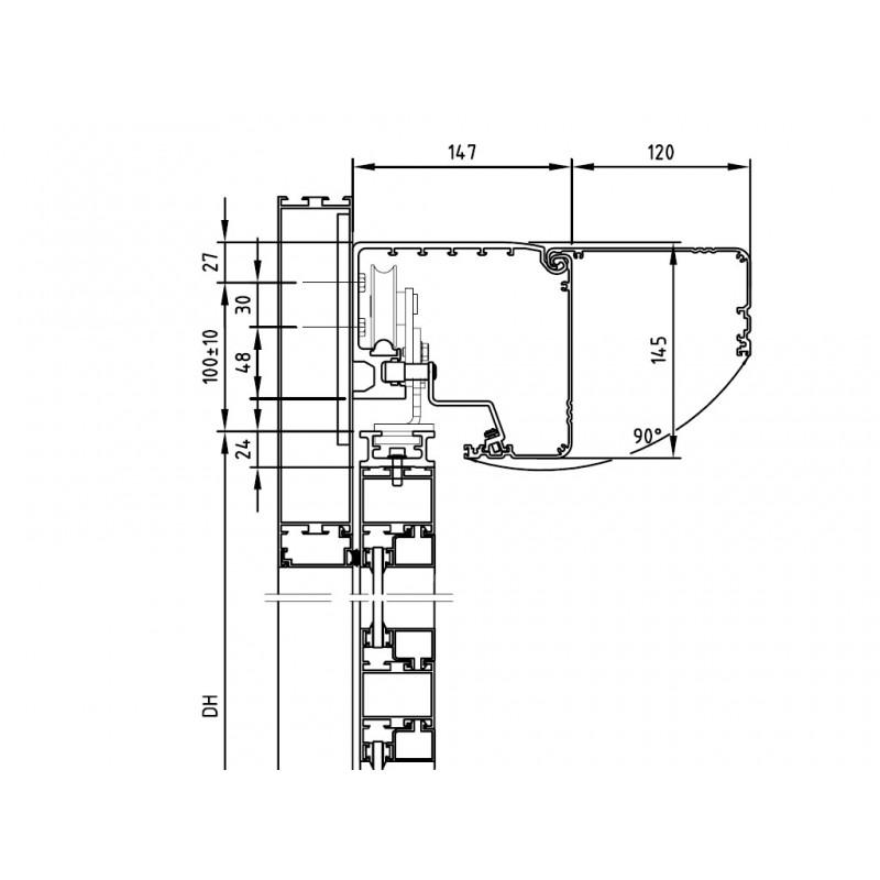 Entrematic EMSL Sliding Door Operator 4680mm