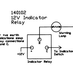 Simple Motorcycle Indicator Wiring Diagram U Haul 4 Way Flat 12v Electronic 3 Terminal Positive And Negative Earth