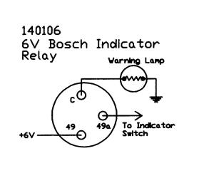 Indicator relay 6V Bosch