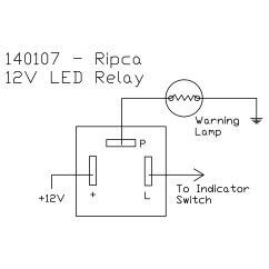 12v Relay Switch Wiring Diagram Convert Circuit To Breadboard 12 Volt Led Flasher Unit