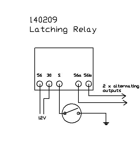 12 volt solid state latching relay