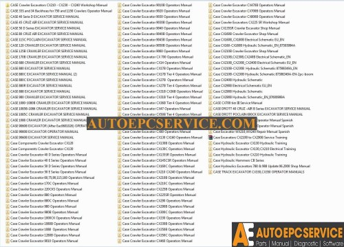 small resolution of case crawler excavators service manual operators manual schematic auto repair software auto epc software auto repair manual workshop manual service