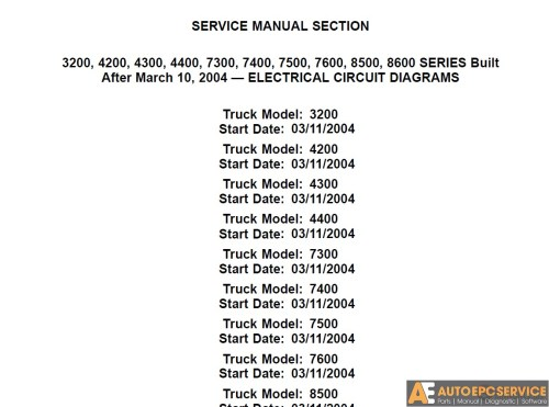 small resolution of international service manual electrical circuit diagrams cd auto repair software auto epc software auto repair manual workshop manual service