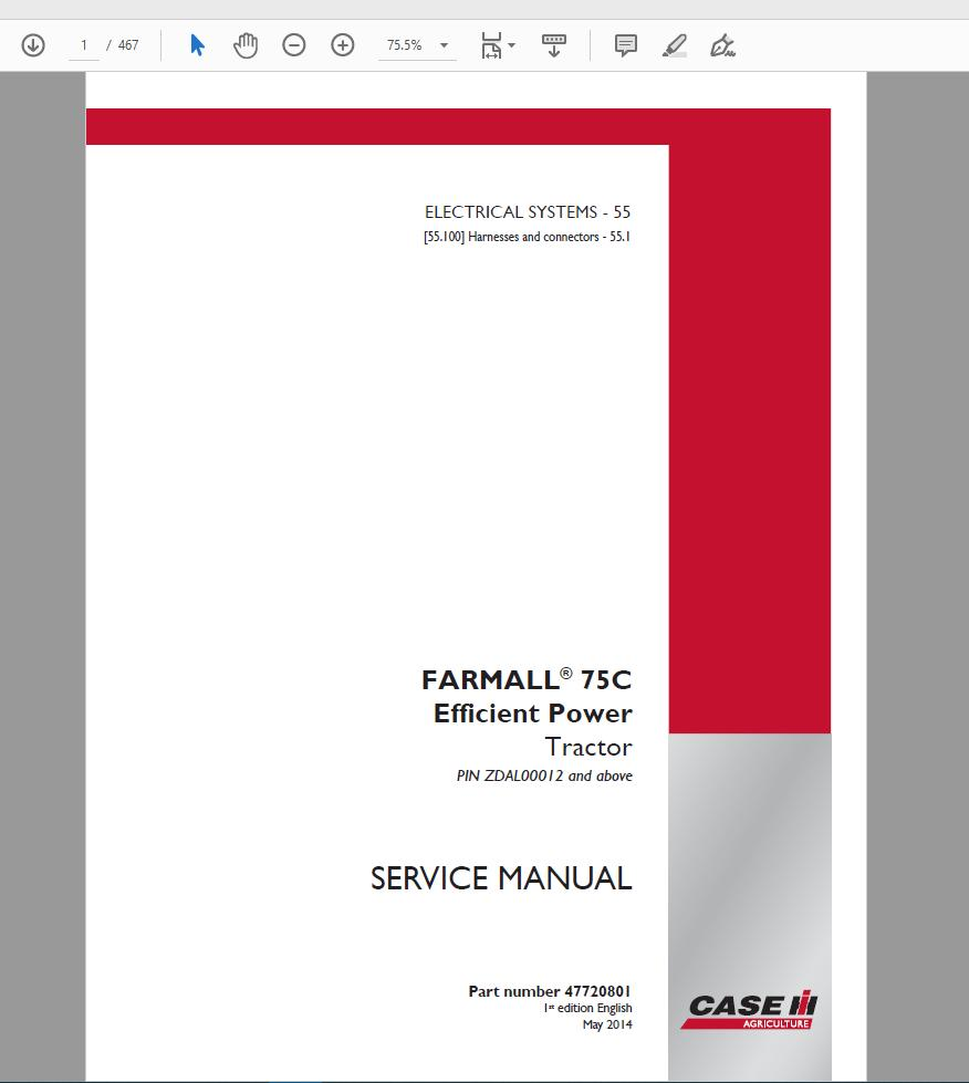 hight resolution of case ih agricultural full service manual 2019 150gb