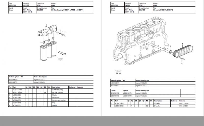 VOLVO BM WHEEL LOADER L160 Parts Manual_New Update 2020