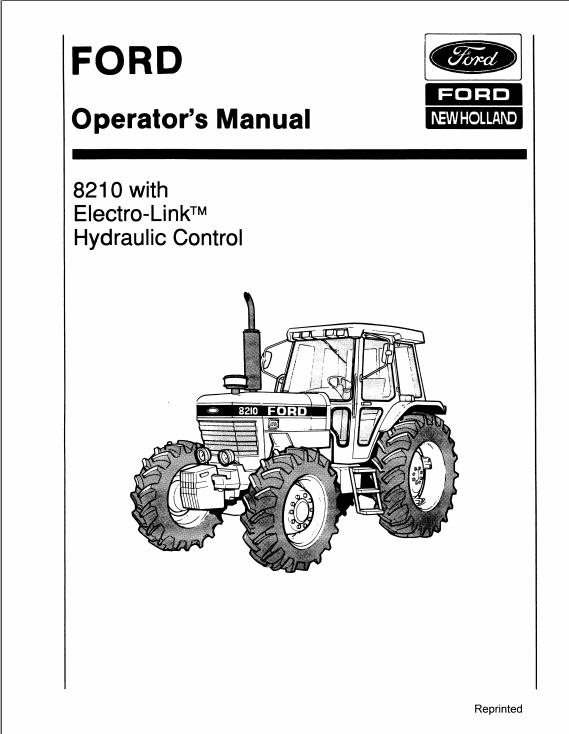 New Holland Ford 8530 8630 8730 8830 Tractor Operator's