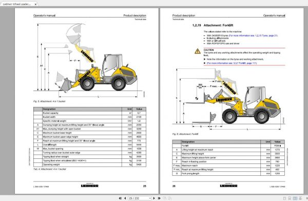 Liebherr Wheel Loader L506-1258 S.N-37499 Operators Manual