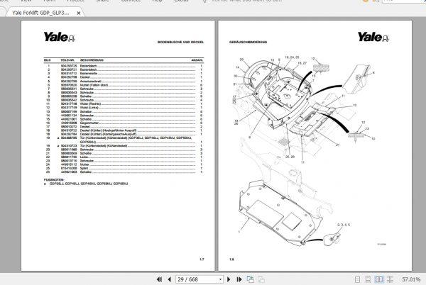 Yale Forklift GDP_GLP35-55LJ_MJ (C813) Parts Manual_DE