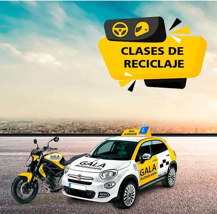 Clases-reciclaje-coche-moto-autoescuela-gala