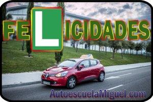 felicidades Renault Clio Autoescuela Miguel
