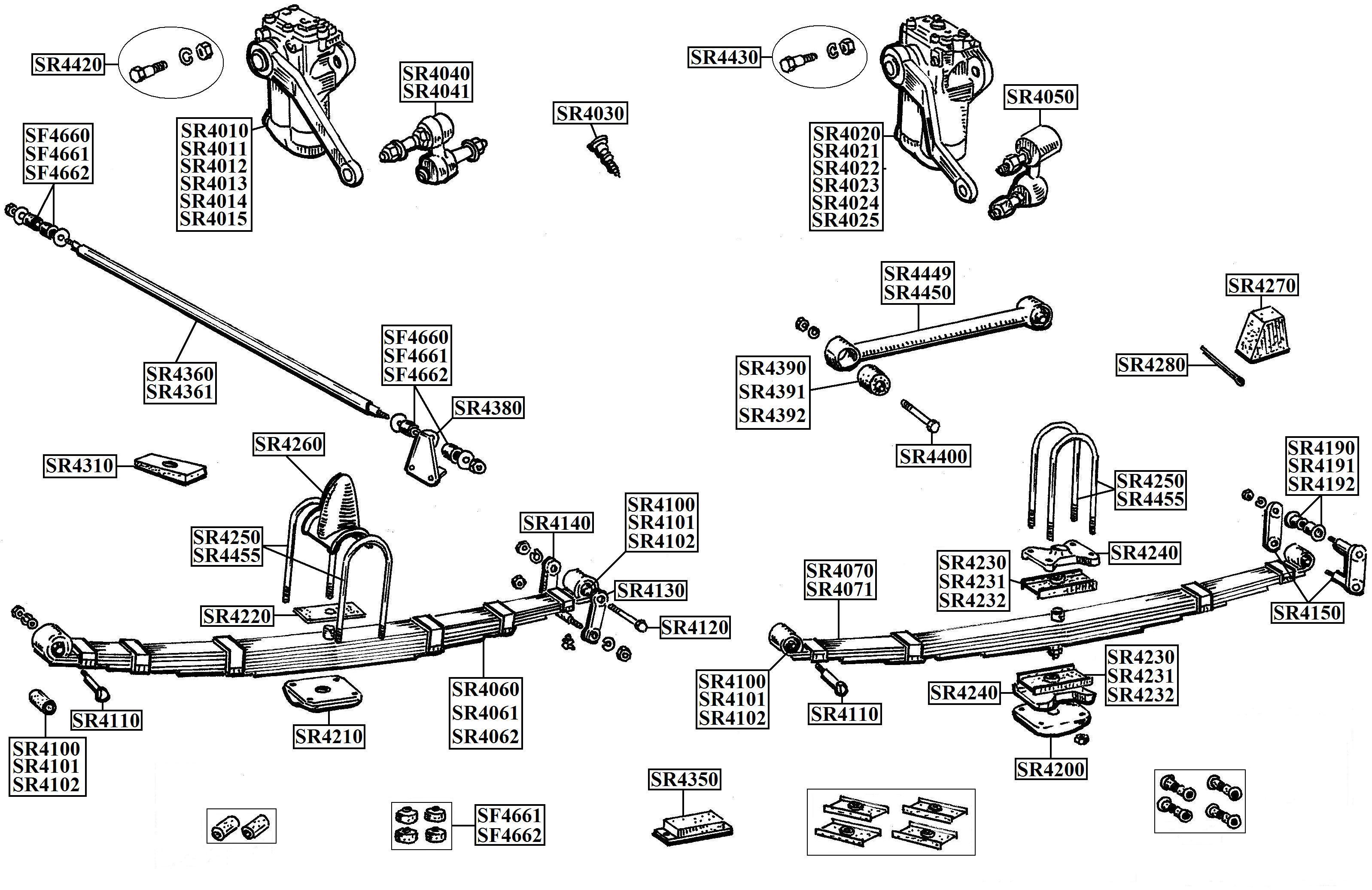 Austin Healey Rear Suspension Parts