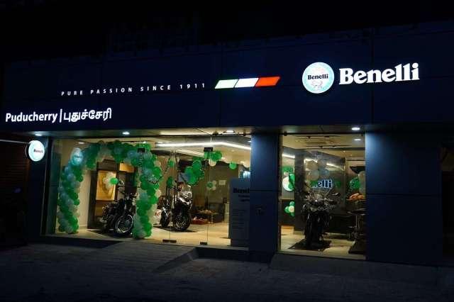 Benelli India showroom