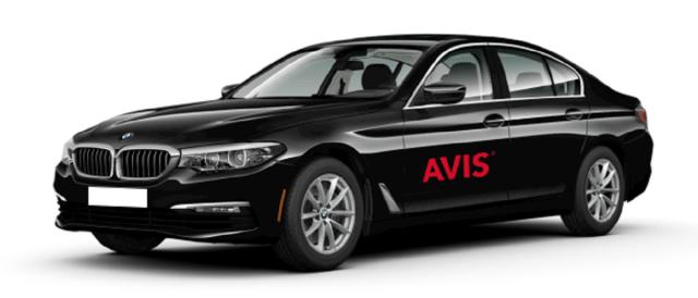 Avis car rental BMW