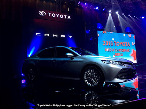 all new toyota camry philippines grand avanza 1.3 e std industry news unveils the in time for motor has officially unveiled at media christmas lunch held hyatt manila just