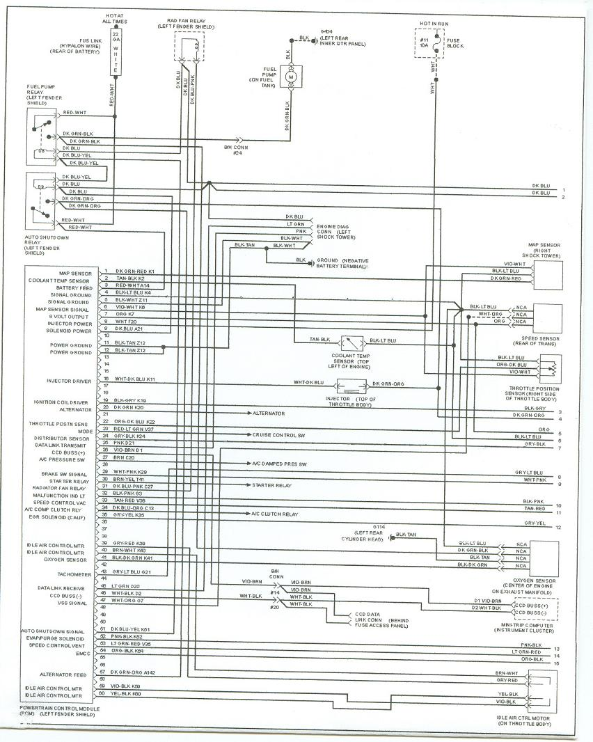 hight resolution of plymouth acclaim fuse box wiring diagram 1993 plymouth acclaim fuse box
