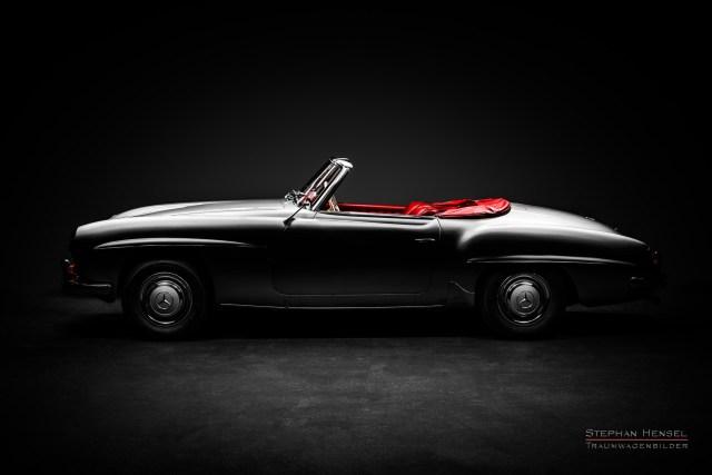 Mercedes-Benz 190 SL, Studioaufnahme, Seitenansicht von links, Autofotografie: Stephan Hensel, Hamburg, Oldtimerfotograf