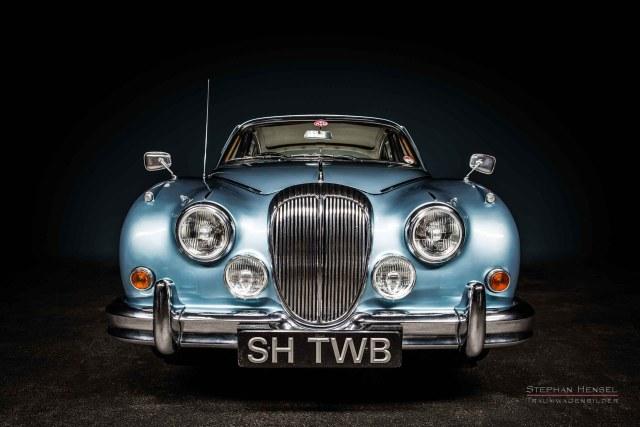 Daimler 250 V8 Frontalansicht, Seitenansicht, Autofotografie: Stephan Hensel, Hamburg, Oldtimerfotograf